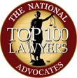 Top 100 Lawyers by The National Advocates