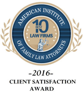 American Institute of Family Law Attorneys 10 Best Law Firms Logo