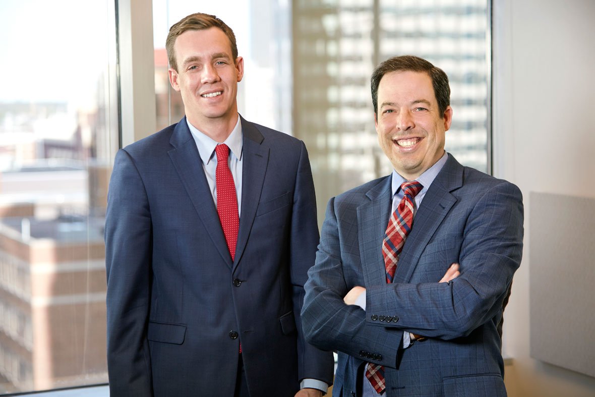 Jesse Beier and Cameron Kelly, Lommen Abdo Law Firm