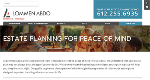 Main page of minnesotaestateplanningattorney.com