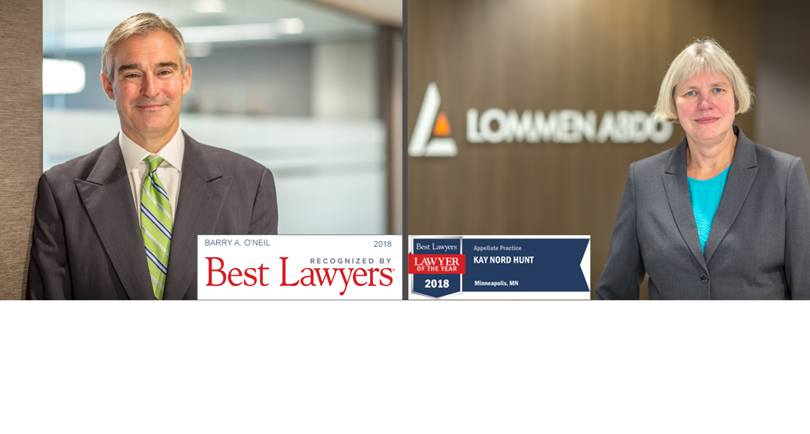 Legal Storytellers: Barry O'Neil and Kay Nord Hunt of Lommen Abdo Law Firm