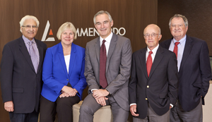 Lommen Abdo's 2018 Best Lawyers: Bob Abdo, Kay Nord Hunt, Barry O'Neil, Roger Stageberg and Phil Cole