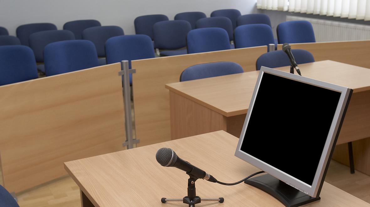 modern courtroom