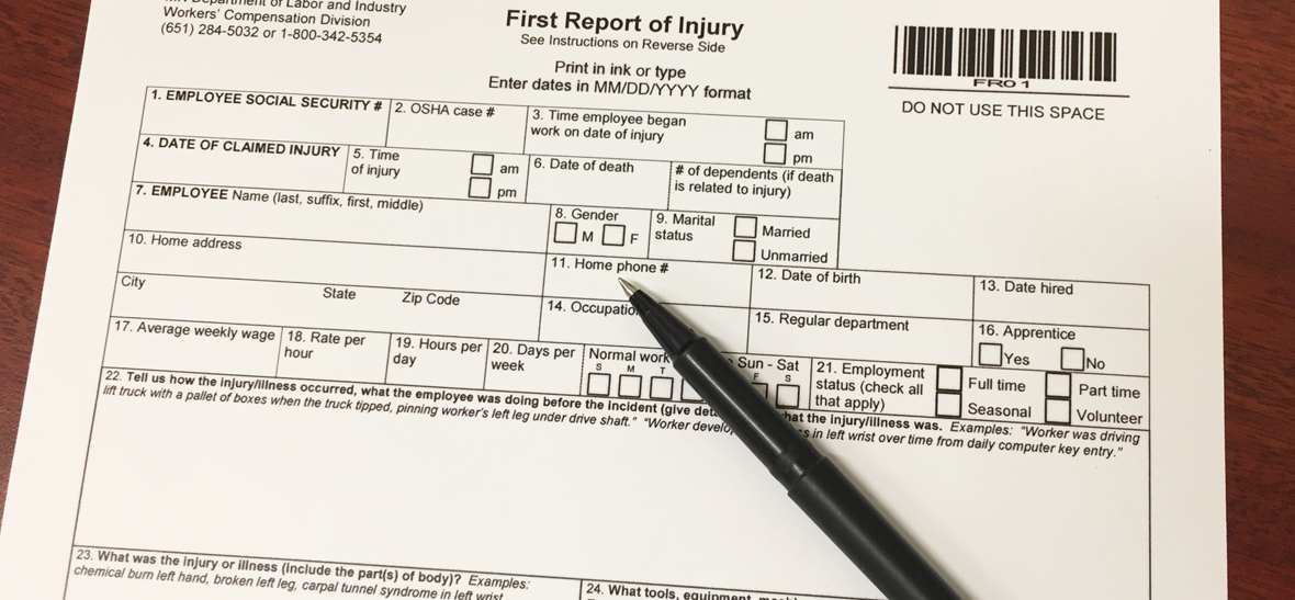 First Report of Injury Form