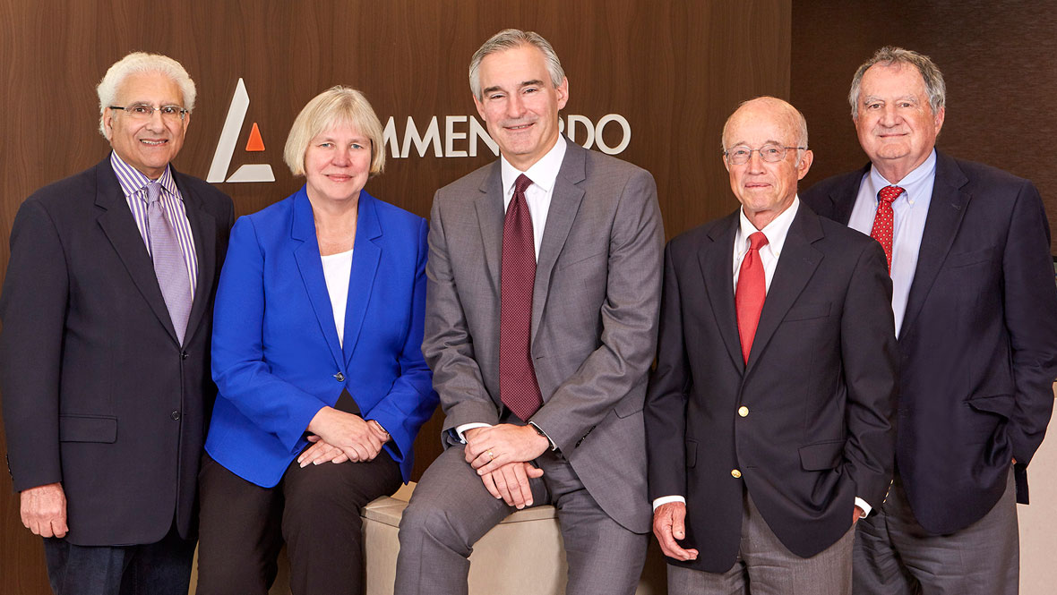 Lommen Abdo attorneys Bob Abdo, Kay Nord Hunt, Barry O'Neil, Roger Stageberg and Phil Cole