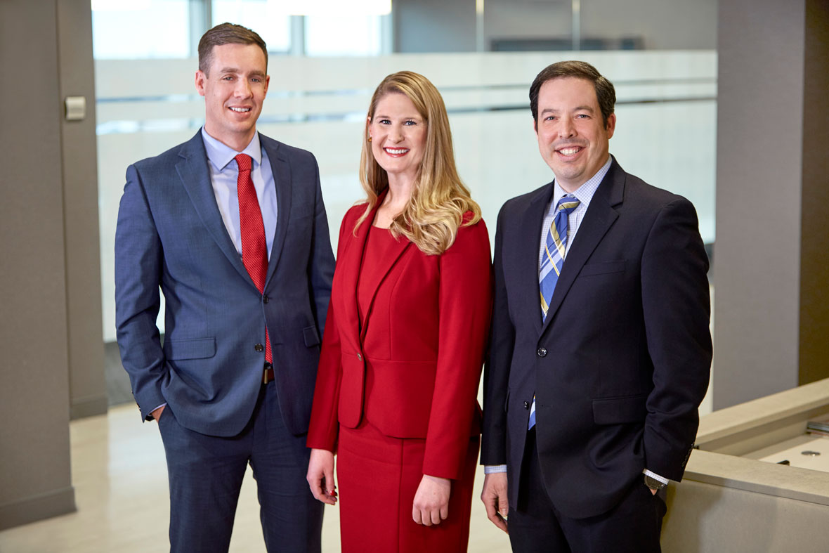 Lommen Abdo's New Shareholders in 2019: Jesse Beier, Lauren Nuffort and Cameron Kelly