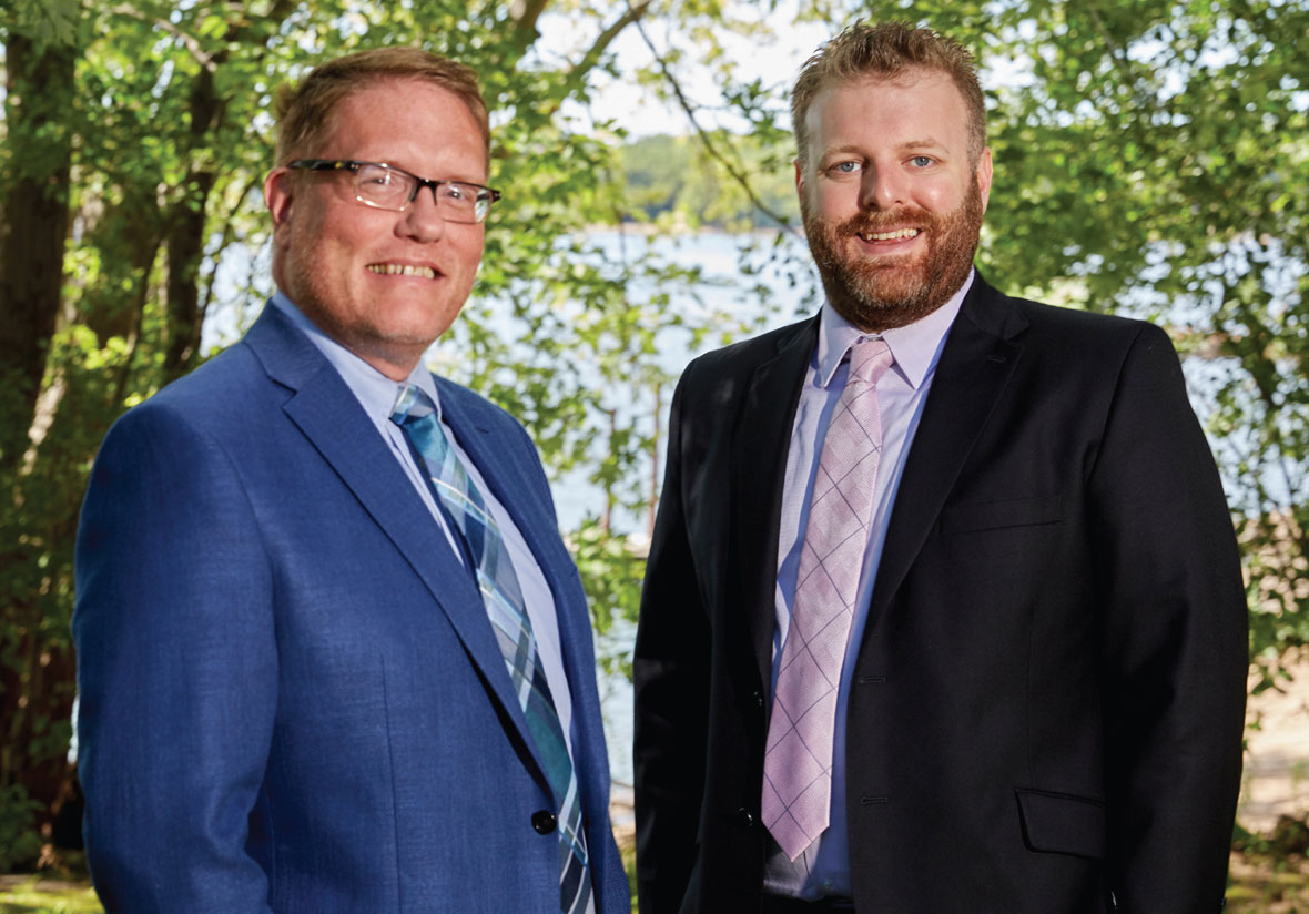 Marc Johannsen and Josh Feneis, attorneys with Lommen Abdo Law Firm